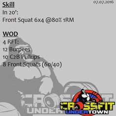 #wod #cftundertown #crossfit #workout #conditioning #metabolic #endurance…