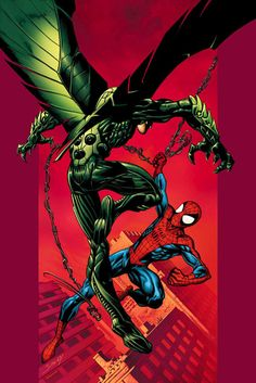 Spider-Man vs Vulture #Spiderman #Marvel #comic . For more images follow pyra2elcapo