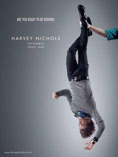 What I like about the advertising industry is their constant need to push the envelope of creativity and innovation. Here are more wonderfully creative ads that Ad Of The World, Best Ads, Harvey Nichols, Advertising Photography, Old And New, Clever, Funny Pictures, Humor, Creative