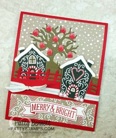One more fun Matchbook Style card idea for you ... a Gumdrop Tree Christmas card!! Had you thought about extending the life of your Halloween Scenes thinlits and using them for occasions other than
