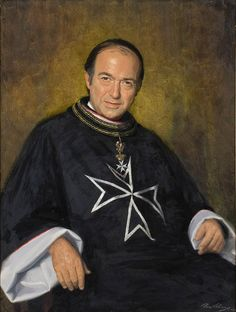 Sir James Gobbo, 1983 by Paul Fitzgerald Malta, Knights Hospitaller, Knights Templar, Kingdom Of Jerusalem, Saint Gregory, University Of Melbourne, Military Orders, Grand Cross, Academic Art