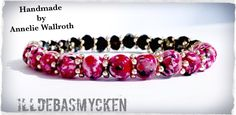 Bracelet with my own beads that I made in polymer clay. And Czech crystal beads.  www.facebook.com/illdebasmycken