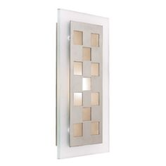 Aquarius Brushed Steel Two-Light LED Wall Sconce