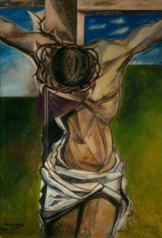 Maistre, Roy de, (1894-1968), The Crucifixion, 1944, Oil