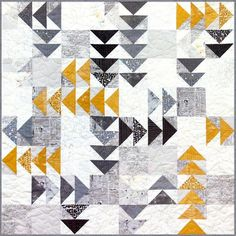quilt pattern TWISTED GEESE feat. FRAGILE by Brigitte Heitland, Zen Chic