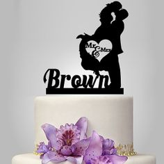We produce all kind of personalize wedding cake toppers . include with custom last name with angel. make it unique to you or gift for your friend, Also we make monogram cake topper, initial cake topper, birthday cake topper