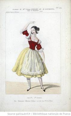 Fanny Essler dans le rôle de De Lauretta (la Tarentule)
