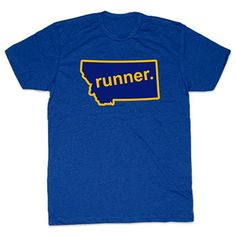 Mens Lifestyle Runners Tee Montana Runner - Show off your pride for Montana with this great Montana Runner State Tee.