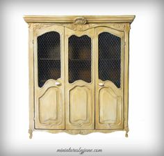 Provincial Armoire by minijune on Etsy