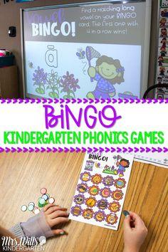 Bingo! Kindergarten Phonics Games