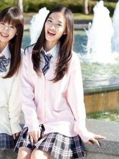 Very an uniformed japanese teen girls