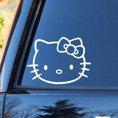 Car window decal Hello Kitty inspired Vinyl by 901CraftCreations