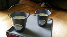 Citronella Metal Bucket Candles by CandlesByAmanda228 on Etsy