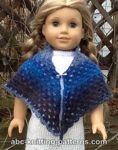 American Girl Doll Granny Shawl