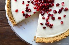Easy No-Bake Cheesecake from JustaTaste.com #recipe