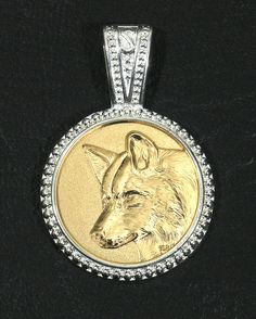 Baby Good Spirit Wolf Alpha Brilliant Gold by GoodSpiritWolf