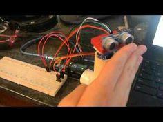 Hrcs04 with servo on arduino