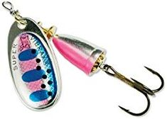 Classic Vibrax - Size 0 - Rainbow Trout - Blue Fox Mid depth blade runs 2 feet to 4 feet. The patented two-part body emits low-frequency sound vibrations that attract fish and trigger strikes while virtually eliminating line t