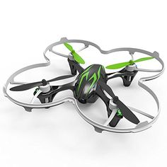 Hubsan X4 H107C 4 Channel 2.4GHz 6 Axis Gyro RC Quadcopter with 720P HD Camera and Protection Cover Mode 2 RTF (green black) *** Continue to the product at the image link.