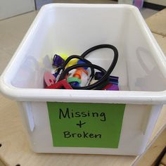 What to do with loose and broken parts in the classroom