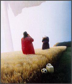 Telesnak i en kornmark Paintings, Couple Photos, Artist, Image, Design, Kunst, Couple Shots, Paint, Painting Art