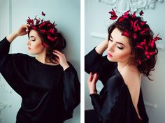 Magical Crowns Made of Butterflies Playfully Fluttering Around Your Head - My…