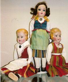 Finnish Martta dolls Old Dolls, Antique Dolls, Vintage Dolls, Childhood Toys, Dollhouse Dolls, Hello Dolly, Reborn Babies, Dollhouses, Beautiful Dolls