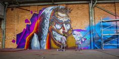 Sofles, teamed up with Fintan Magee, Treas and Quench: Graffiti Art Time Lapse, Amazing!  Filmed by Selina Miles