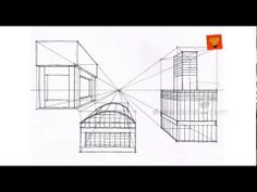 ▶ Perspective Drawing: Intermediate 08 inter one point objects 03  Drawzania.com