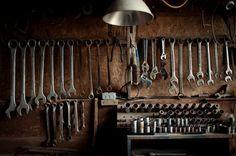 Garage tool storage is really great complement that should be included in your garage. Choose your right selection of garage tool storage that fit your need and Garage Tool Storage, Garage Tools, Garage Workshop, Garage Organization, Garage Cafe, Organizing, Man Up, Vintage Tools, Vintage Stuff
