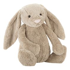 Buy Jellycat Bashful Beige Bunny Soft Toy - Find a superb collection of toys and games from Hamleys. We offer fast, efficient delivery on a wide range of toys and games, all available with premium gift wrapping! Big Bunny, Grey Bunny, Bunny Plush, Kids Store, Snuggles, Baby Toys, Girl Toys, Cuddling, Beige