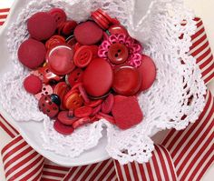 beautiful red buttons
