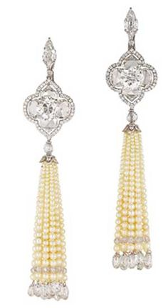 pearl and diamond earrings by Bhagat