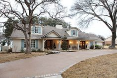 """Home Remodeling Fixer Upper """"Fixer Upper"""": 7 House Flips That Will Make Your Jaw Drop - We're not sure if Chip and Joanna Gaines have magical powers, but considering these home renovations, it's entirely possible. French Country Exterior, Country Home Exteriors, French Country Kitchens, French Country House, French Country Decorating, Country Farmhouse, Country Living, Big Country, French Cottage"""