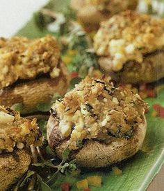 deVegetariër.nl - Vegetarisch recept - Gevulde paddenstoelen