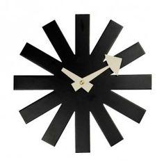 George Nelson Inspired Asterisk clock - black
