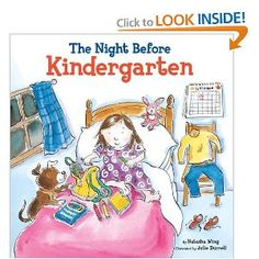 The Night Before Kindergarten. It's the first day of school! Join the kids as they prepare for kindergarten, packing school supplies, posing for pictures, and the hardest part of all—saying goodbye to Mom and Dad. But maybe it won't be so hard once they discover just how much fun kindergarten really is!
