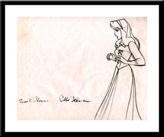 Briar Rose signed by Frank Thomas and Ollie Johnston
