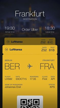 Image result for lufthansa UI