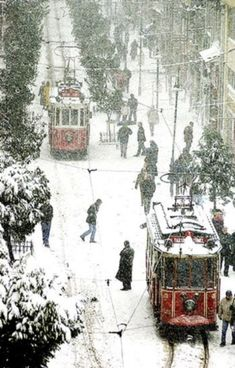 Istanbul. Turkey. winter and the tram
