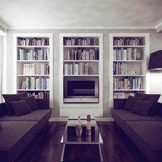 Domowa biblioteczka w salonie