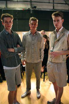 Male Models Backstage at Kenneth Cole Spring 2013 Preview  Find us: FACEBOOK | TWITTER | BLOGLOVIN | PINTEREST | LOOKBOOK