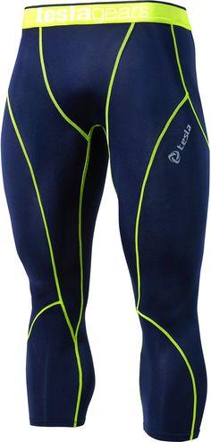 Amazon.com: Tesla Men's Cool Compression Capri Pants: Sports & Outdoors