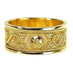 Billias Band Ring Athena's Treasures ❤ liked on Polyvore featuring jewelry, rings, yellow gold jewelry, gold jewelry, gold jewellery, silver and gold band ring and yellow gold band ring