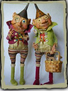 Woodstown Whimsies - dolls Tutti & Frutti