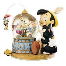 Disney Snowglobes Collectors Guide: Pinocchio's Music Box Snowglobe
