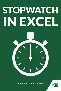 Excel does not have a stopwatch feature inbuilt into it, but if you can use VBA, you can easily create a stopwatch.    You can choose to create a basic stopwatch in Excel or go for a little fancy one as shown in this tutorial.    In this Excel tips tutorial, I'll show you how to create a stopwatch in Excel. Microsoft Excel, Microsoft Office, Vba Excel, Excel Macros, Excel For Beginners, Pivot Table, New Tricks, Pencil Art, Ms