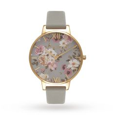 For Her - Olivia Burton Flower Show Big Dial Grey & Gold - OB16FS81