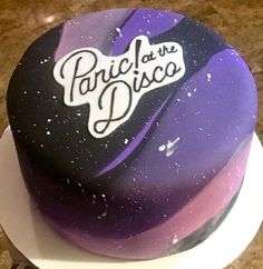Personal size Panic at The Disco cake
