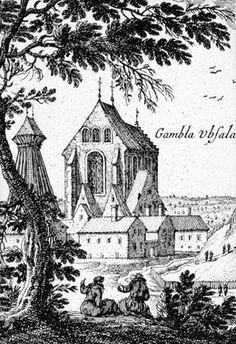 DigitaltMuseum - Gamla Uppsala kyrka - Arkeologi Gamla Uppsala 1926